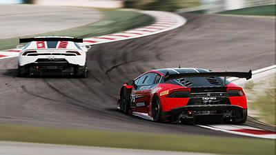 Photograph - Lamborghini Blancpain Super Trofeo - 13 by Andrea Mazzocchetti