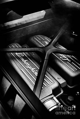 Photograph - Lamborghini Huracan Engine by Tim Gainey