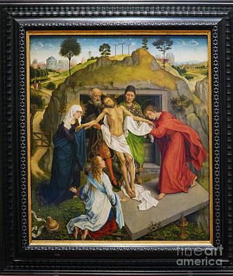 Photograph - Lamentation Of Christ Rogier Van Der Weyden Uffizi Gallery Florence Italy by Wayne Moran