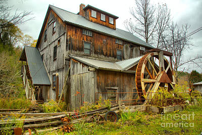 Photograph - Lamoille County Grist Mill by Adam Jewell