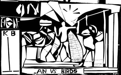 Digital Art - Lan Vs Birds 2 by Artist Dot