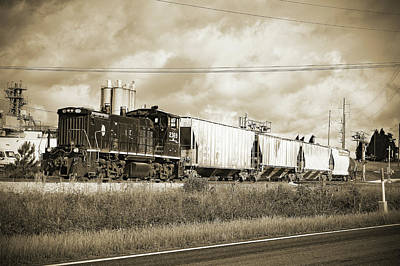 Photograph -  Lancaster And Chester Rr Mp15dc B W 2 by Joseph C Hinson Photography
