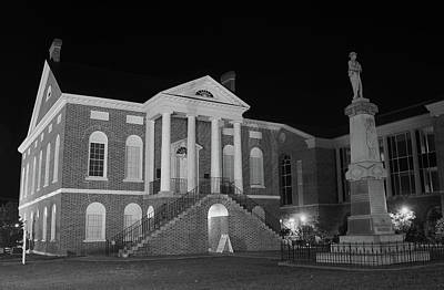 Photograph - Lancaster County Court House Night B W 21  by Joseph C Hinson Photography