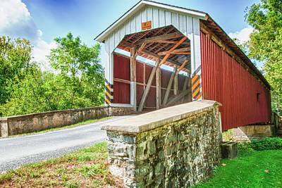 Photograph - Lancaster Covered Bridge by Paul Croll