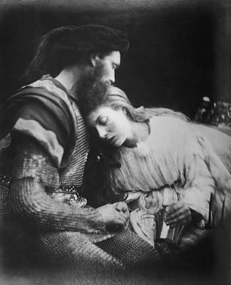 Lancelot And Guinevere Art Print by Julia Margaret Cameron