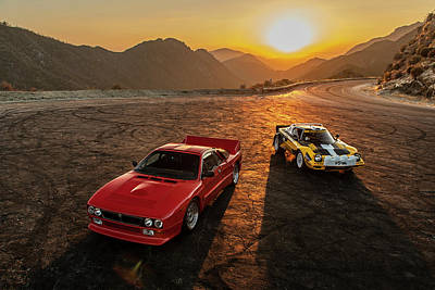 Photograph - Lancia 037 And Stratos by Drew Phillips
