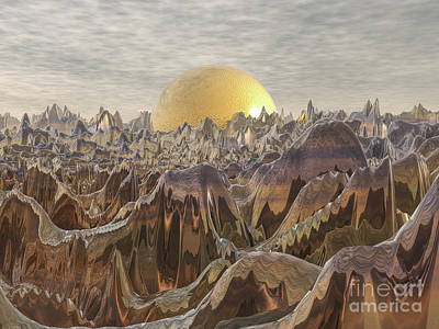 Digital Art - Land Of The Golden Orb by Phil Perkins