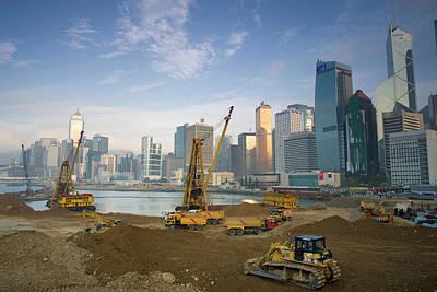 Financial District Photograph - Land Reclamation, Financial District by Travelpix Ltd