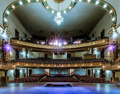 Photograph - Landers Theatre Stage View by Allin Sorenson
