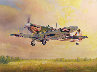 Painting - Landing Spitfire by Douglas Castleman