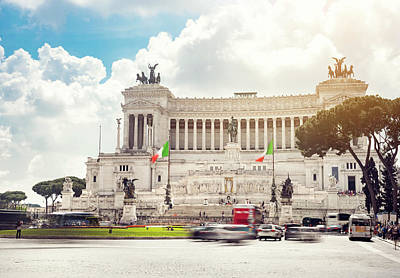 Digital Art - Landmark in Rome, Italy. Tourist attraction and destination in e by Tanel Murd