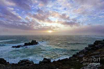 Photograph - Land's End Winter Sunset by Terri Waters