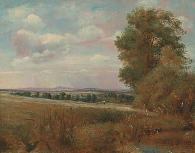 Painting - Landscape At Hampstead, With Harrow In The Distance by Lionel Constable