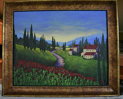 Painting - Italian Countryside by Gloria Johnson