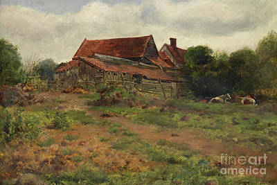 Painting - Landscape, Hampstead, 1848 by John Everett Millais