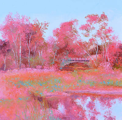 Painting - Landscape In Pink by Jan Matson