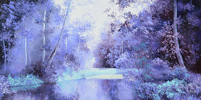 Landscape In Purple Original
