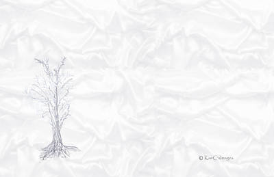 Digital Art - Landscape In White by Kae Cheatham