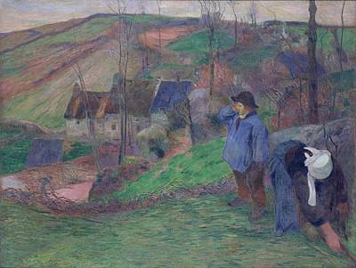 Keith Richards - Landscape of Brittany 1888 by Paul Gauguin
