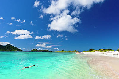 Photograph - Landscape Shot Of Clear Blue Water At by Flavio Vallenari
