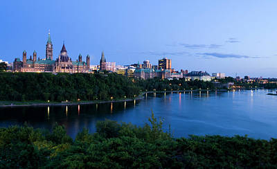 Landscape Shot Of The Ottawa Skyline In Art Print