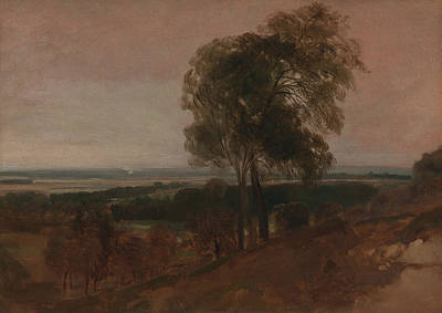 Drawing - Landscape Study At Sunset by Peter De Wint