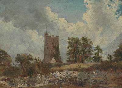 Painting - Landscape With A Church by Frederick W Watts