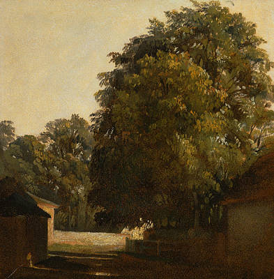 Painting - Landscape With Chestnut Tree by Peter De Wint