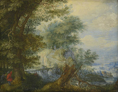 Painting - Landscape With Hunters by Roelant Savery