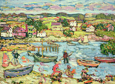 Painting - Landscape With Rowboats by Maurice Brazil Prendergast