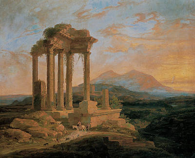 Painting - Landscape With Ruins by Lluis Rigalt