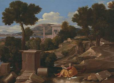 Painting - Landscape With Saint John On Patmos, 1640 by Nicolas Poussin