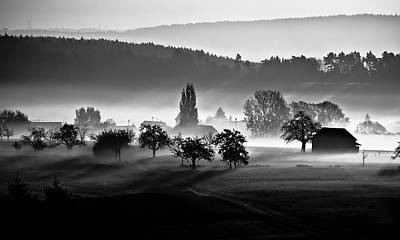 Photograph - Landscape With Village In Background by Andreas Schott (bonnix)