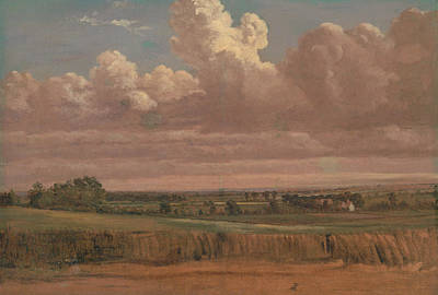 Painting - Landscape With Wheatfield by Lionel Constable