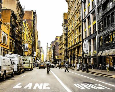 Photograph - Lane Only  by Geraldine Gracia