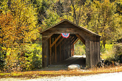 Photograph - Langdon New Hampshire Covered Bridge by Adam Jewell