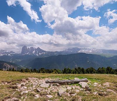 Photograph - Langkofel - Dolomites Panorama by Julia Massold