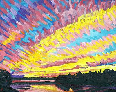 Painting - Langmuir Streak Sunset by Phil Chadwick