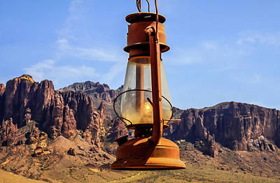 Photograph - Lantern Over Superstitions by Dawn Richards