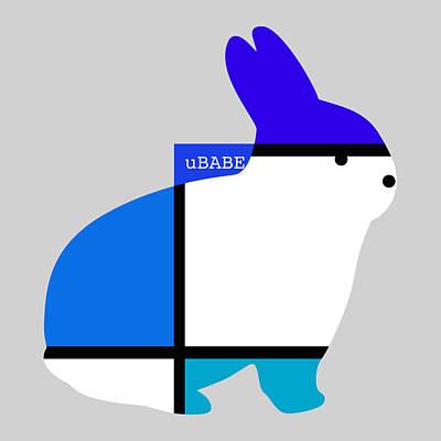 Digital Art - Lapin Agile Blue by Ubabe Style