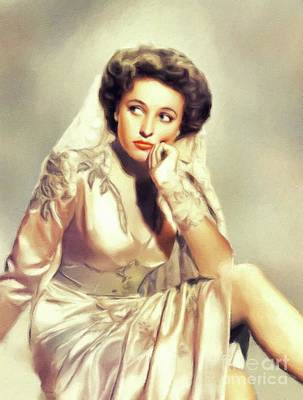 Beaches And Waves Rights Managed Images - Laraine Day, Hollywood Legend Royalty-Free Image by Esoterica Art Agency