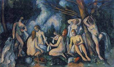 Abstract Shapes Janice Austin Royalty Free Images - Large Bathers 1900 05 Royalty-Free Image by Paul Cezanne Paintings