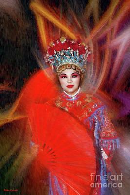Photograph - Large Fan  Scarlet Heroine by Blake Richards