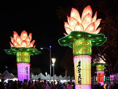 Photograph - Large Lanterns In The Shape Of Lotus Flowers by Yali Shi