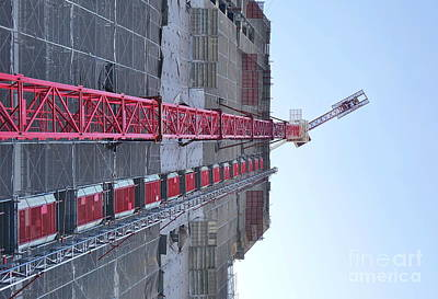 Photograph - Large Scale Construction Site With Crane by Yali Shi