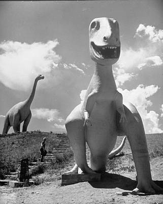 Photograph - Large Statues Of Dinosaurs In Dinosaur P by Alfred Eisenstaedt