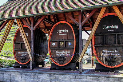 Photograph - Large Wine Casks by Dawn Richards