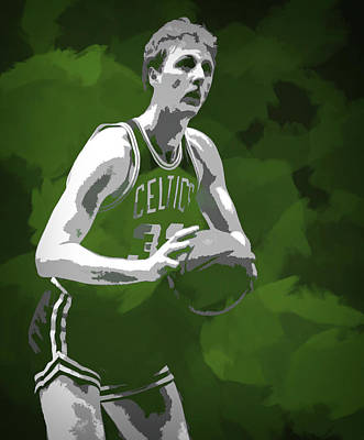 Athletes Mixed Media - Larry Bird by Dan Sproul