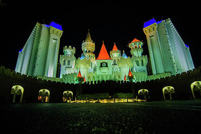 Photograph - Las Vegas Excalibur Casino At Night by Alex Grichenko