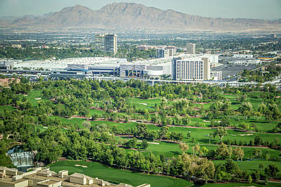 Photograph - Las Vegas Golf Course Resort On Sunny Day by Alex Grichenko